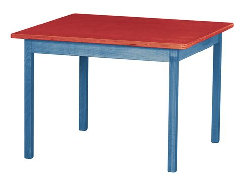 Handmade Furniture Usa - children s play table blue amish handmade wood