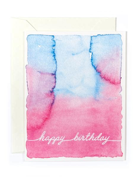 Birthday Card Watercolor Watercolor Happy Birthday Card Golden Fox Goods
