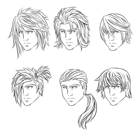 drawing 6 boy hairstyles by marryrdbsongs youtube anime male hairstyles by crimsoncypher on deviantart