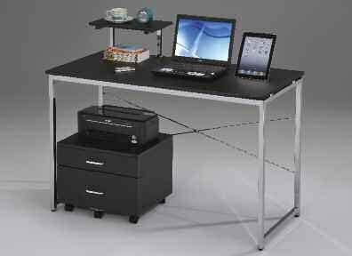silver and black computer desk ellis black and silver metal computer desk by acme 92086