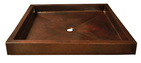 Metal Shower Pan by Copper Shower Pans Square 16 Gorgeous Patinas