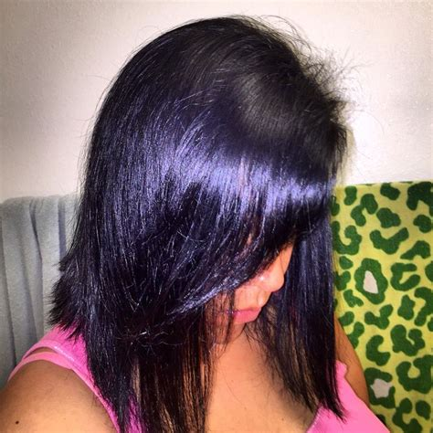 hair color black or midnight blue with subtle highlights or ombre brown blonde platinum grey midnight blue back ion demi hair dye hair blue black of
