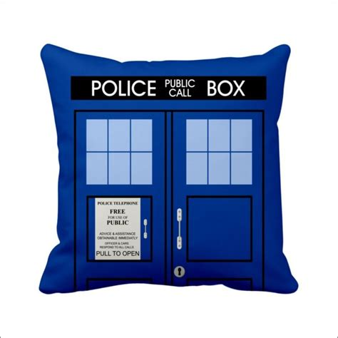 14 quot satin hold cushion cover doctor who tardis pattern