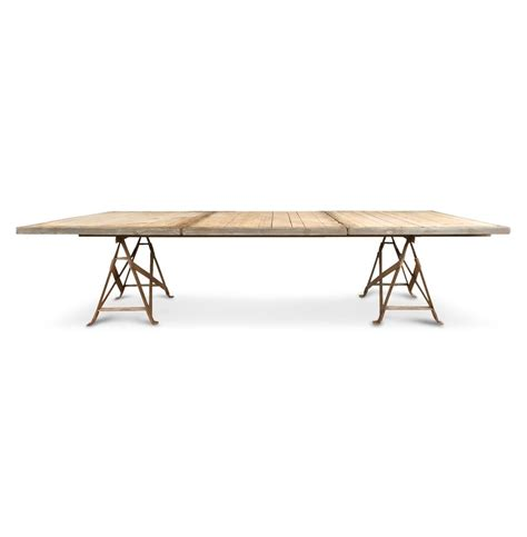 Large Wood Dining Table Frinier Industrial Loft Iron Reclaimed Wood Large Dining Table 110 Quot Kathy Kuo Home