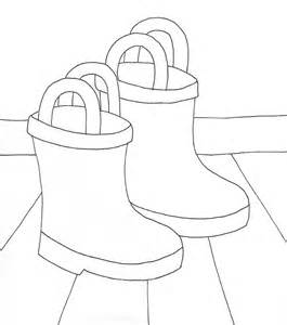 rain boots coloring wee folk art