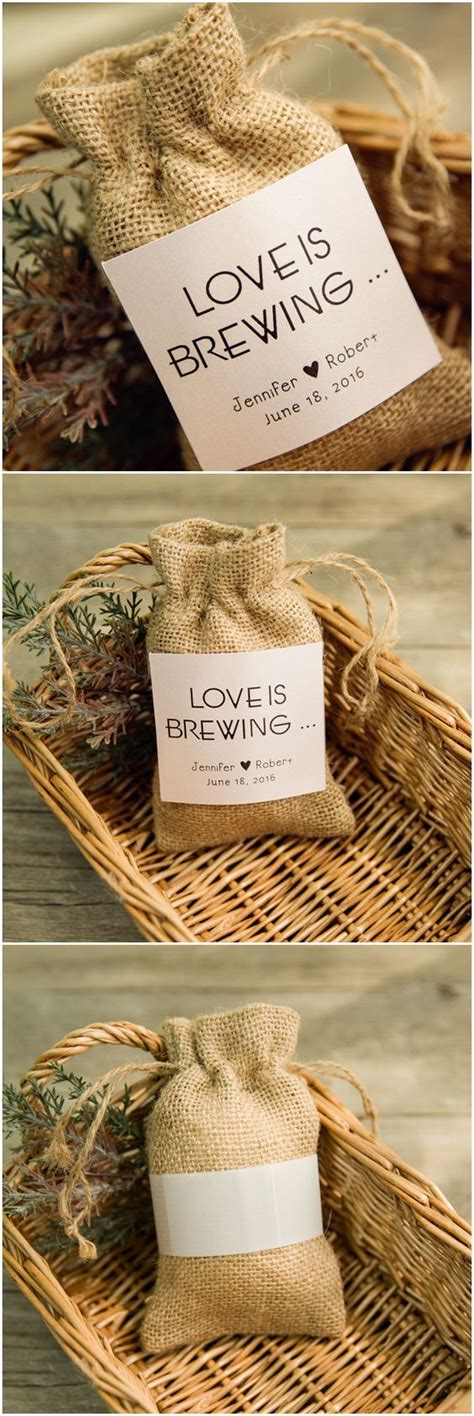 wedding favors cost inexpensive rustic jute hessian favor bags with lovely
