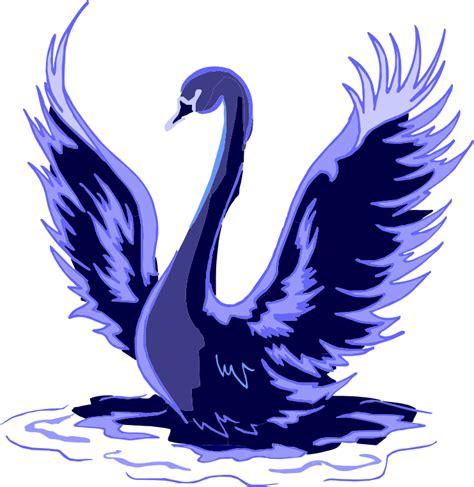 Bloues Swan Clipart Stylized Blue Swan
