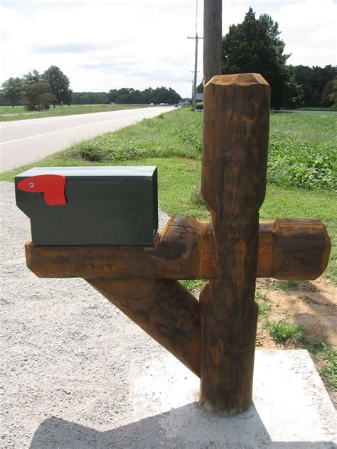 Handmade Mailbox - custom made heavy timber frame mailbox post by