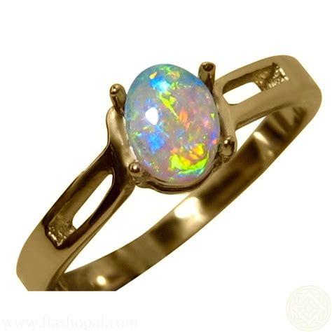 Opel Ring by Gem Opal Gold Ring Flashopal