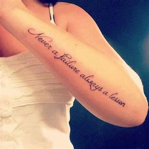 never a failure always a lesson tattoo this and sayings on