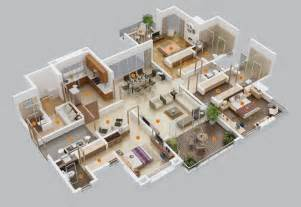 house design plans 3d 3 bedrooms 50 three 3 bedroom apartment house plans architecture