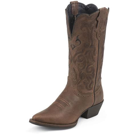 brown womans boots s justin 174 11 quot stede western boots brown