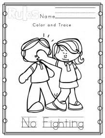 Classroom Rules Preschool Colouring Pages sketch template