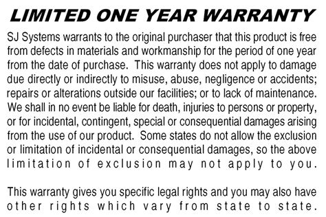 warranty statement template brotherusa your source for home and office product