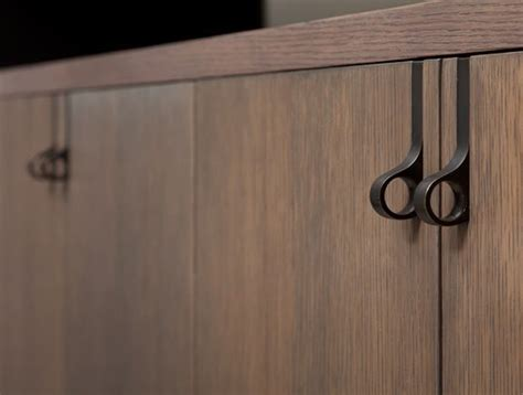 Kitchen Cabinet Finger Pulls by One Finger Door Handle For Kitchen Cabinets Home