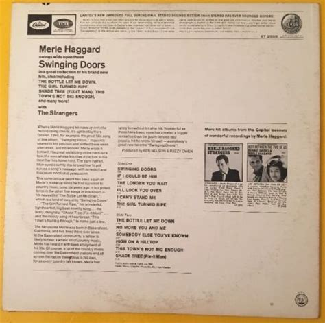 swinging doors merle haggard roots vinyl guide