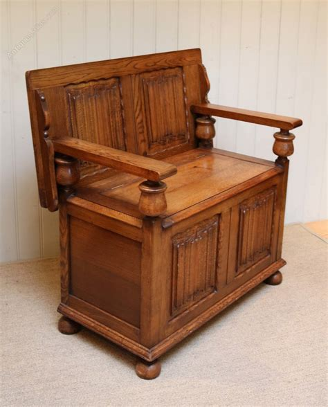 solid oak benches solid oak monks bench antiques atlas