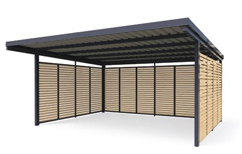 doppelcarport aus metall carport metall carport aus metall gerhardt braun