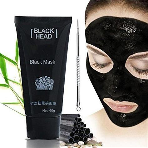 Detox Mud Mask For Acne by Blackhead Cleansing Remover Mask Bamboo Charcoal