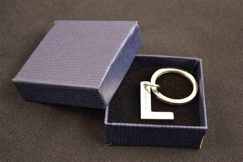 Gift With Letter L Beautiful Sterling Silver Key Ring Letter L Gift Idea
