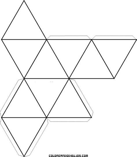 imagenes geometricas para armar deltaedro para recortar y armar