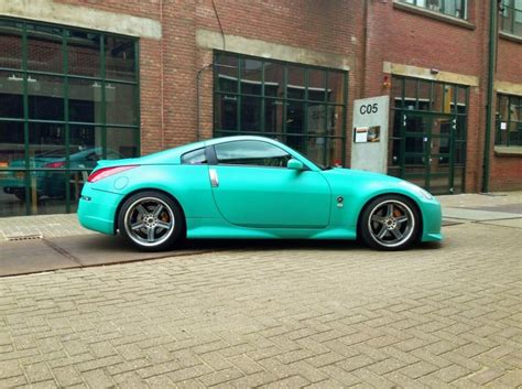 matte teal car i love this color matte teal 350z awesome cars