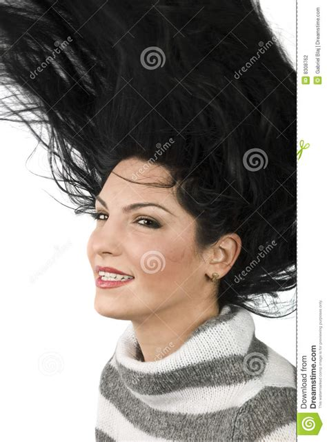 woman flipping hair stock photography image