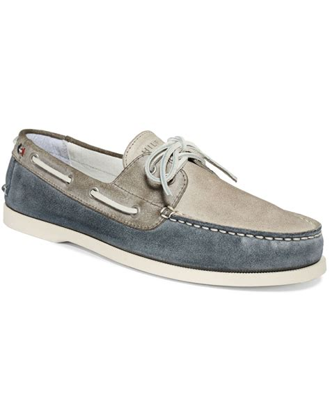 hilfiger shoes for hilfiger bowman boat shoes in blue for lyst