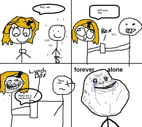 Forever Alone Meme Origin - image 271787 forever alone know your meme