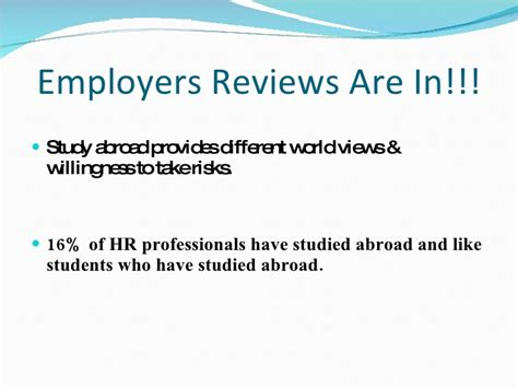 Mba Hr In Abroad by Mba Graduate Business Study Abroad Presentation