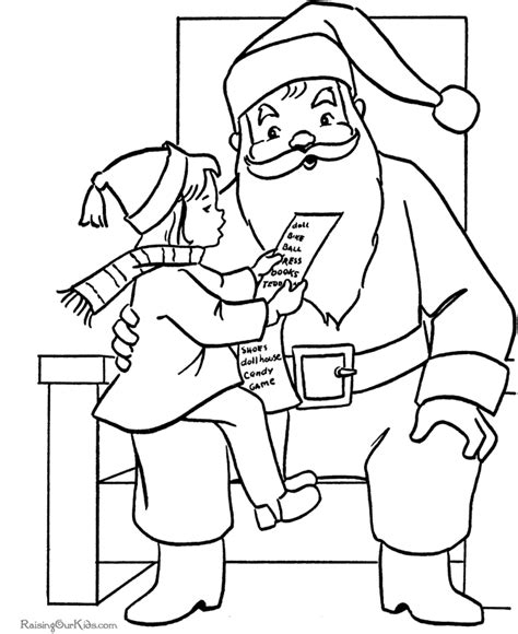 santa list coloring page christmas wish list coloring pages
