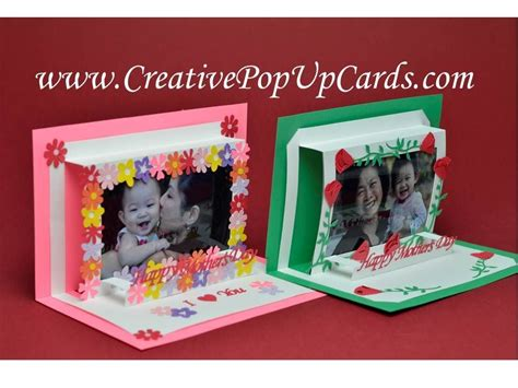 Mother's Day Photo Frame Pop Up Card   YouTube