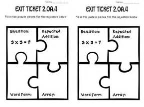 classroom exit ticket template addition using arrays math tasks and exit tickets the o