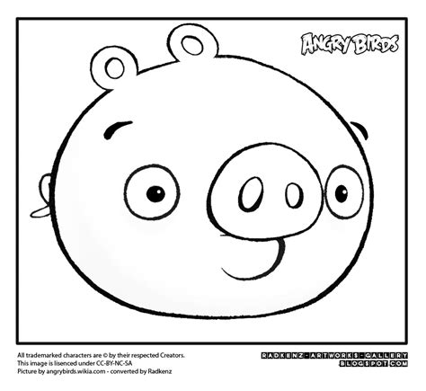 Coloring Pages Of Angry Birds Pigs | radkenz artworks gallery coloring pages