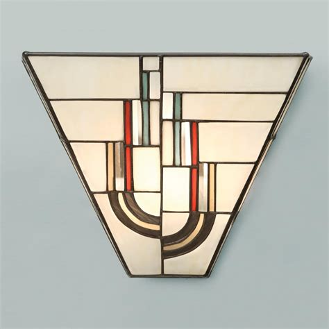 art deco wall tiffany art deco wall light with decorative stained glass