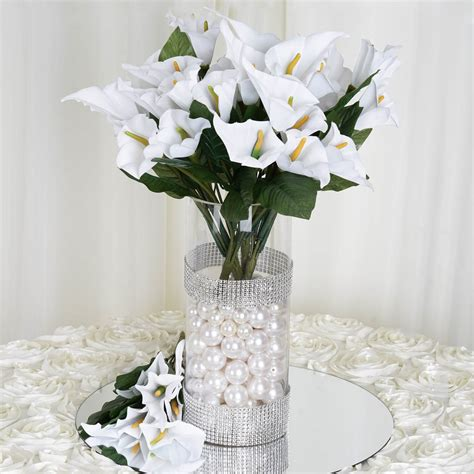 168 silk calla lily flowers for wedding bouquets