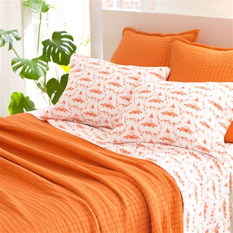 quilts coverlets district17 boyfriend orange matelasse coverlet quilts