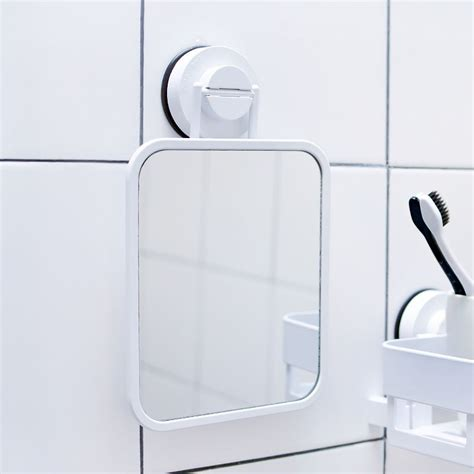 telescopic bathroom mirror suction up wall mounted telescoping folding round one side