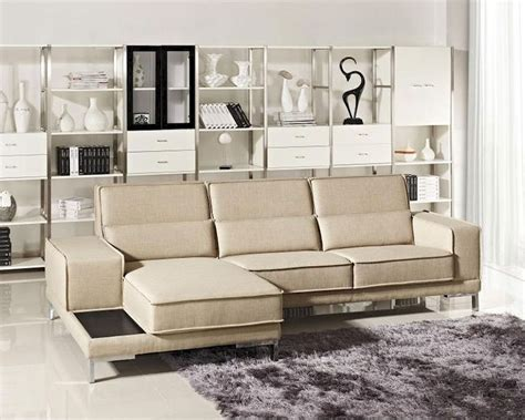 Modern Beige Sofa Modern Beige Fabric Sectional Sofa 44l6002
