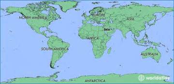 Qatar On World Map by Where Is Qatar Where Is Qatar Located In The World