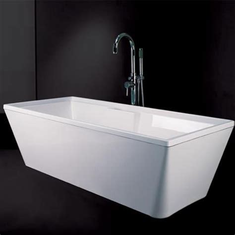 freestanding rectangular bathtub freestanding bathtub rectangular 67 quot plumbtile