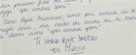 lettere per dire ti voglio bene marco pannella l ultima lettera a papa francesco quot ti