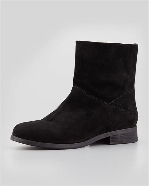 eileen fisher boots eileen fisher jaunt suede ankle boot black in black lyst