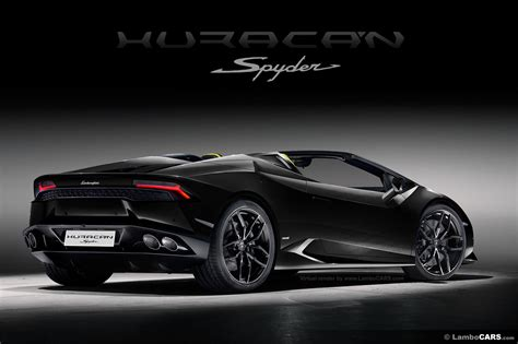 The Lamborghini Huracan LP610 4 Spyder is unveiled.huracan