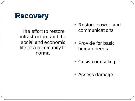 Disaster Recovery Roles And Responsibilities by Disaster Recovery Plan Ts Focus For Today Lets Select Just One Hazard From The Disaster