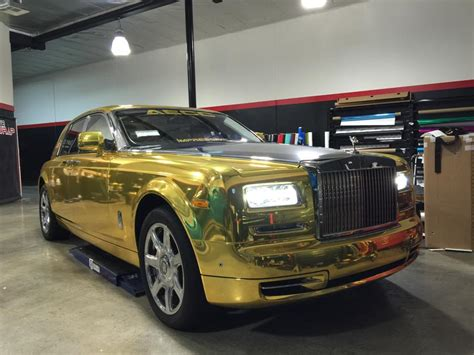 rolls royce phantom gold tuningcars gold chrome rolls royce phantom