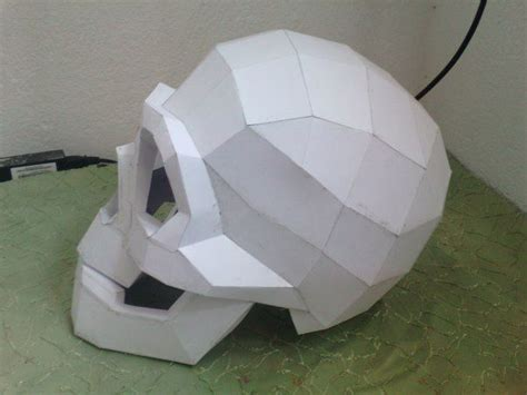 Life Size Skull Helmet Free Papercraft Template Download Http Www Papercraftsquare Com Life Free Papercraft Templates Pdf