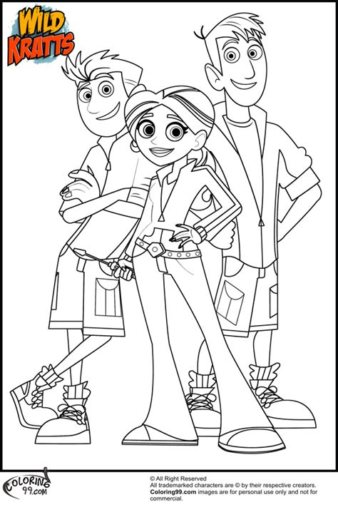 wild kratts coloring pages and coloring on pinterest