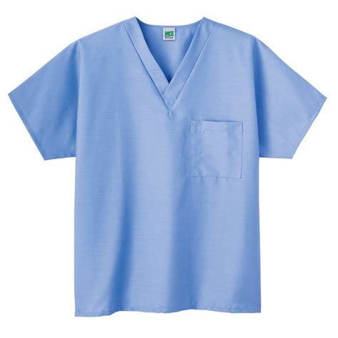 Color Ceil Blue by Meta Unisex Scrub V Neck Top Ceil Light Blue Large From
