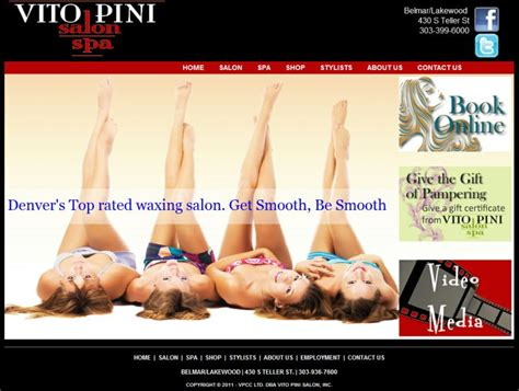 vito pini salon boutique spa golden colorado hair nails spa skin